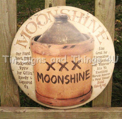 Details About Moonshine Jug Round Dome Tin Sign Rustic Bar