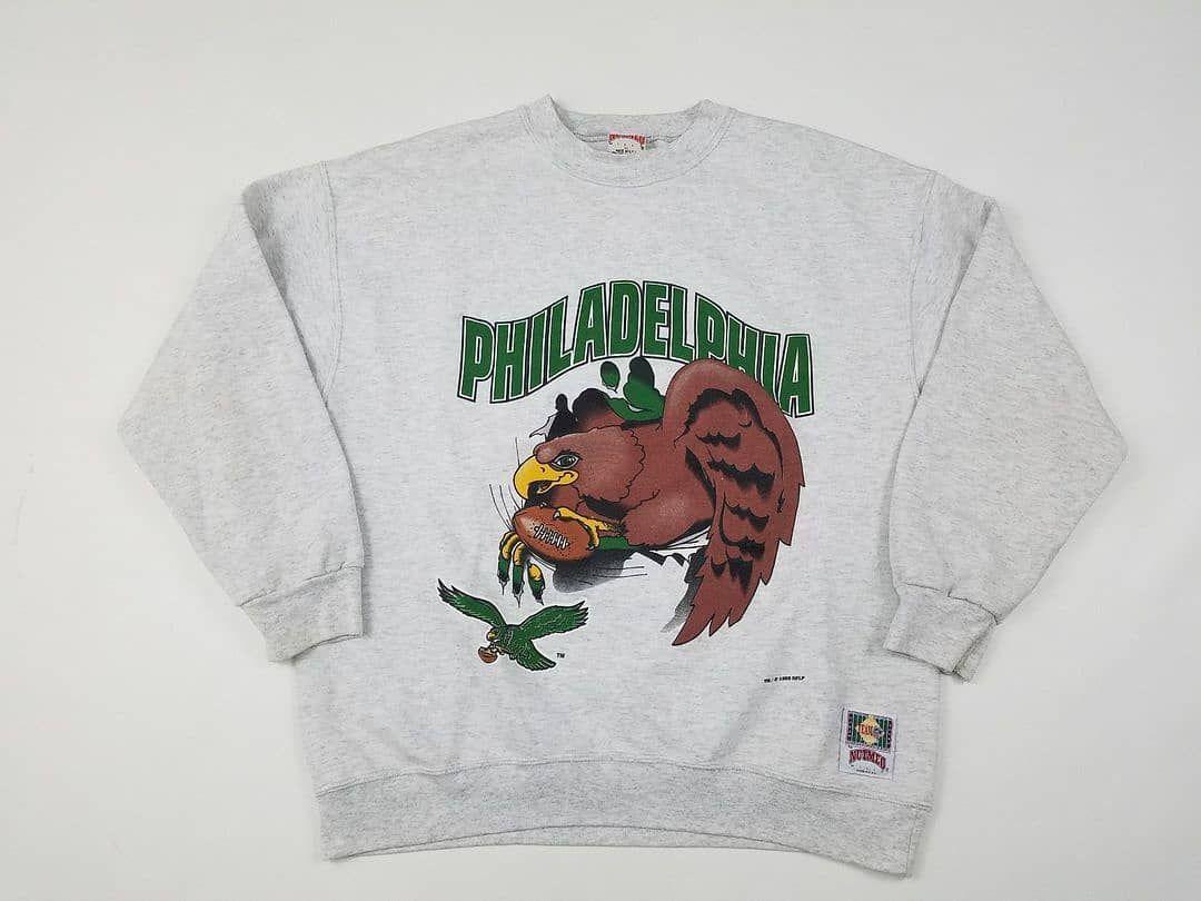 1993 Philadelphia Eagles Crewneck Nutmeg Mills Breakthrough Men S Xl Tap Image Shop91vintage Com Graphic Sweatshirt Mens Xl Philadelphia Eagles [ 810 x 1080 Pixel ]