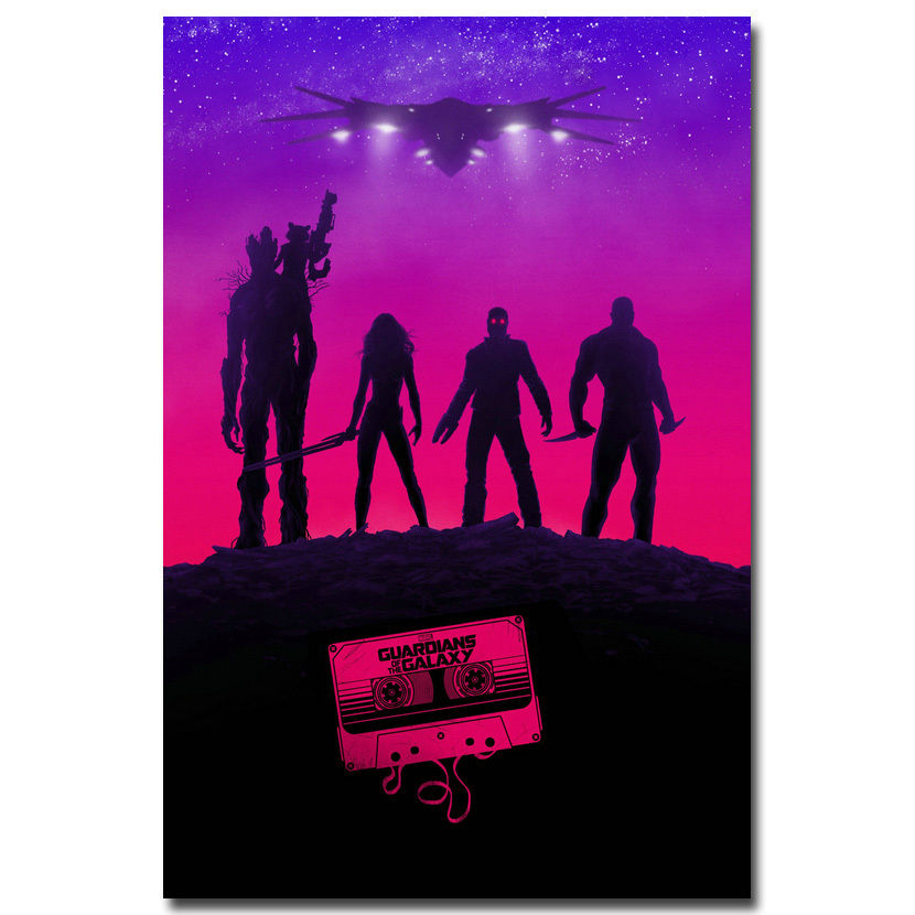 Guardians of the Galaxy Marvel Movie Silk Poster 12x18 24x36 inches Art Print 03