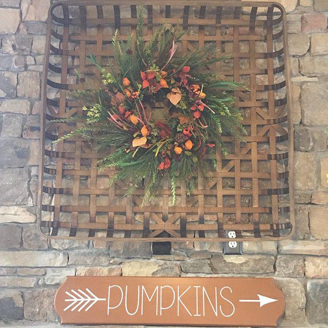 Photo of Square Christmas wreath, holiday pine wreath, Christmas door wreath