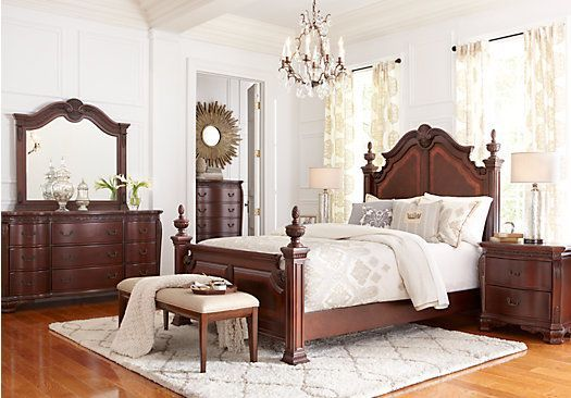 picture of Cortinella Cherry 5 Pc Queen Poster Bedroom ...