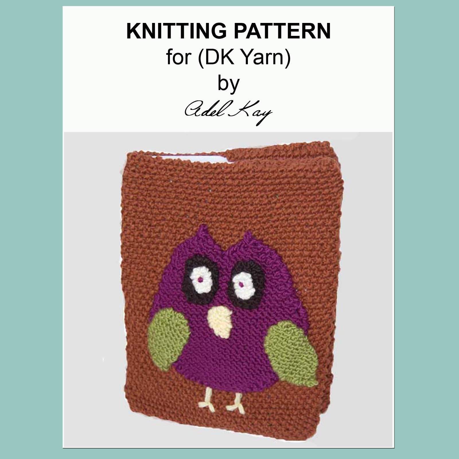 Book Cover Knitting Pattern ~ Bertie owl book cover my knitting pattern designs