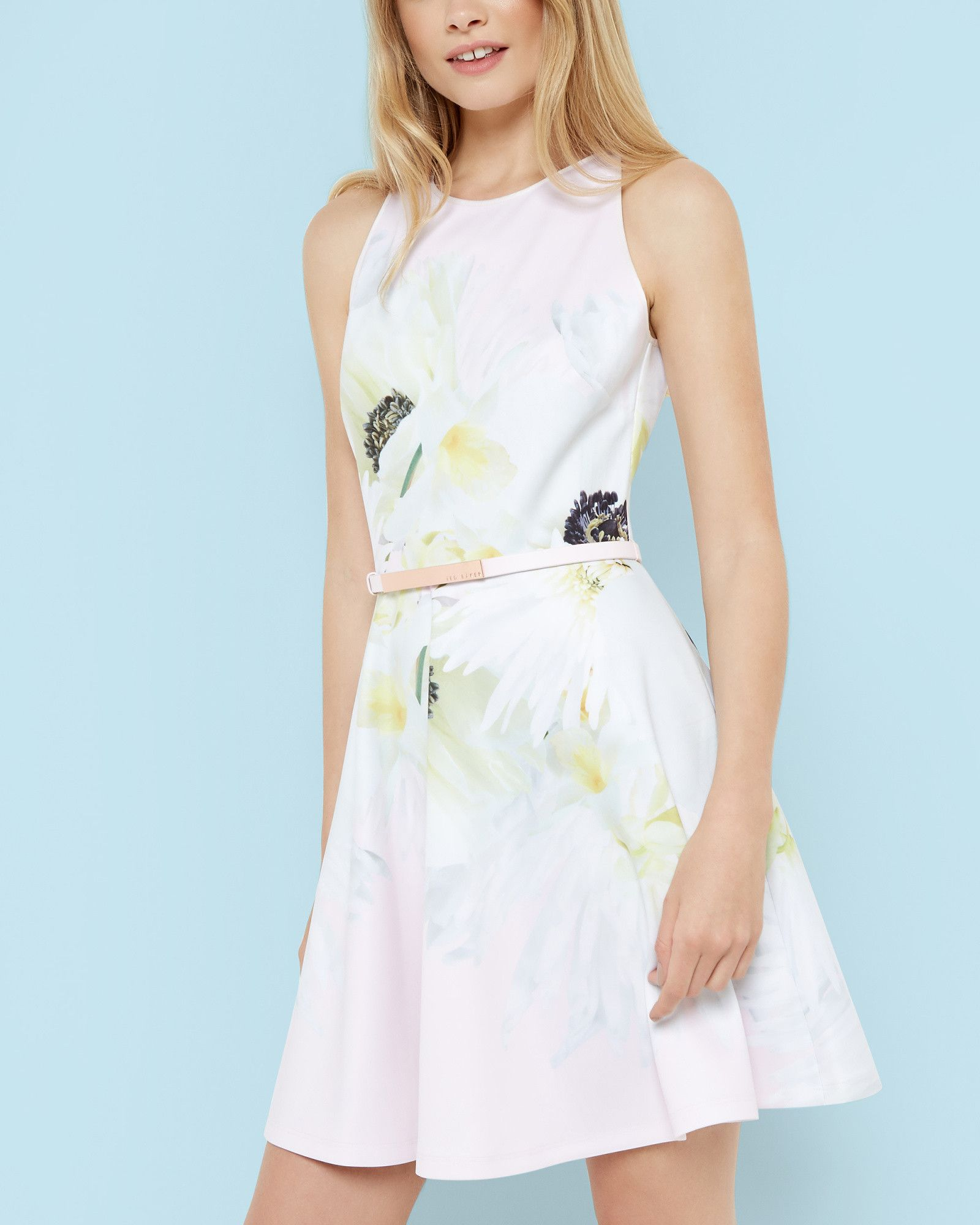 Ted Baker Pearly Petal skater dress Pink | Ted, Ted baker outlet and ...