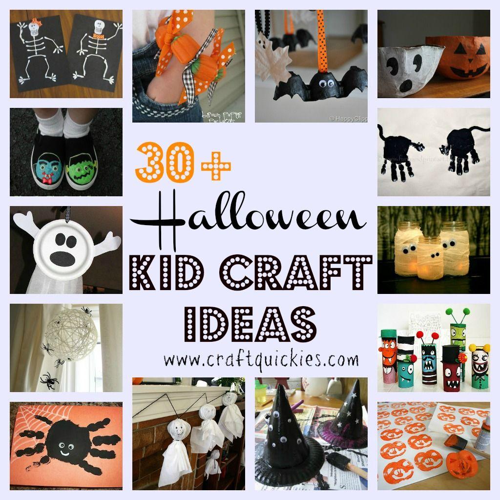 Halloween Craft Ideas For Kids Pinterest Part - 20: 30+ Halloween Kid Craft Ideas. Lots Of Pins Iu0027ve Seen But I