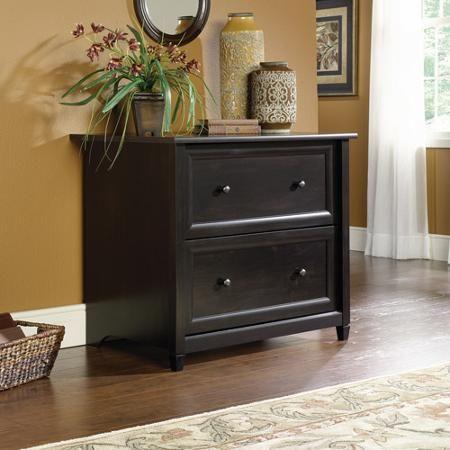 Elegant Sauder Edge Water 2 Drawer Lateral File Cabinet, Estate Black