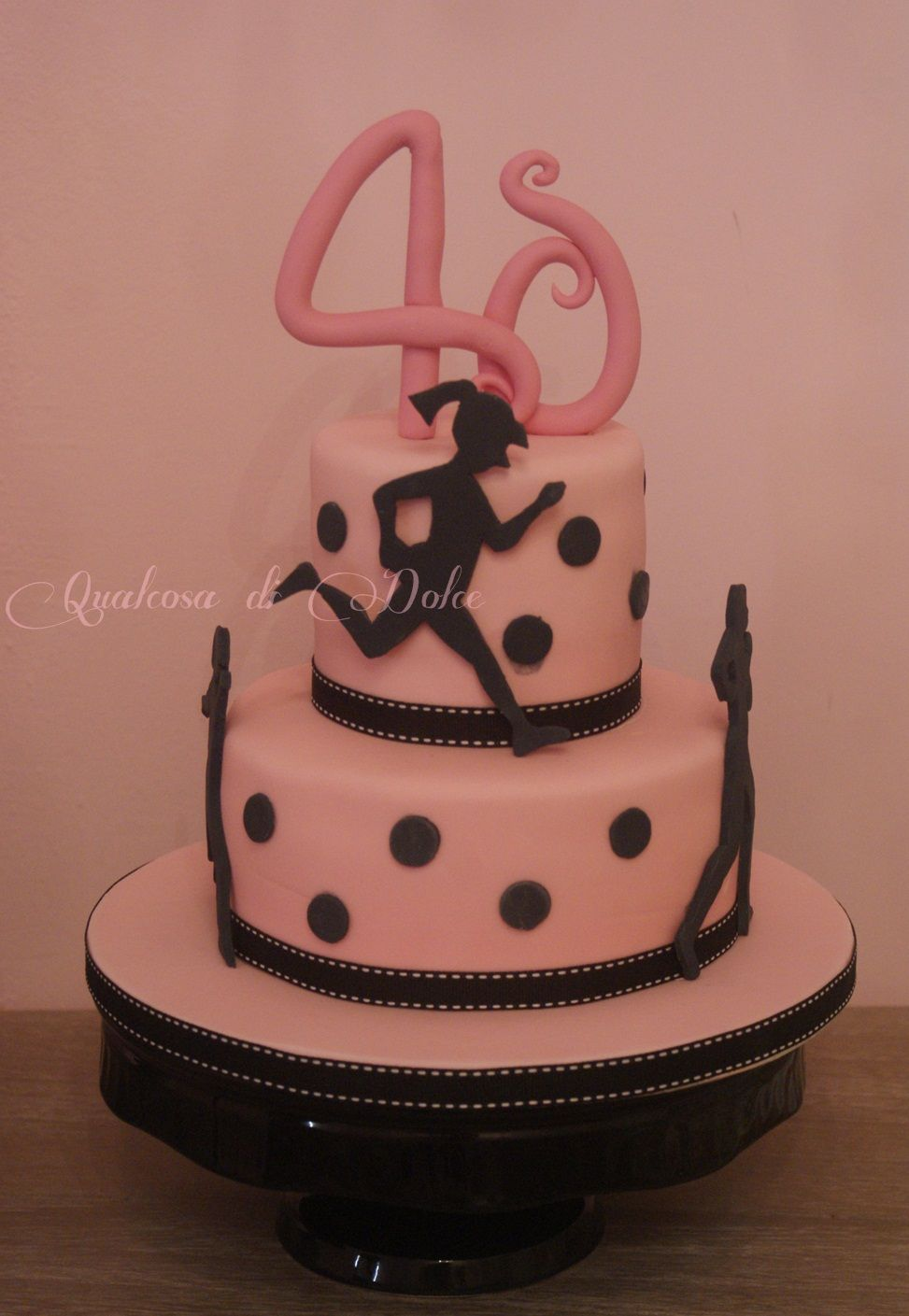A Cake For Woman Always Running 40th Birthday Women