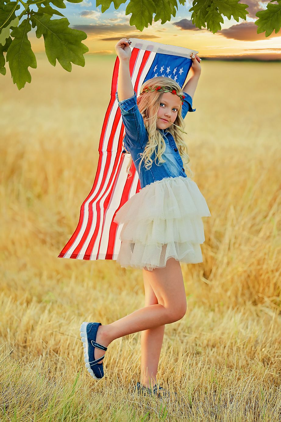 Proud To Celebrate The Stars And Stripes Denim Fabric Fashion
