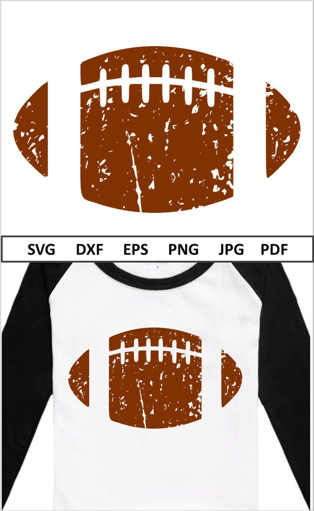 Distressed Football Svg Files For Cricut Silhouette Cameo Iron Etsy Vinyl Shirts Cricut Football Shirts