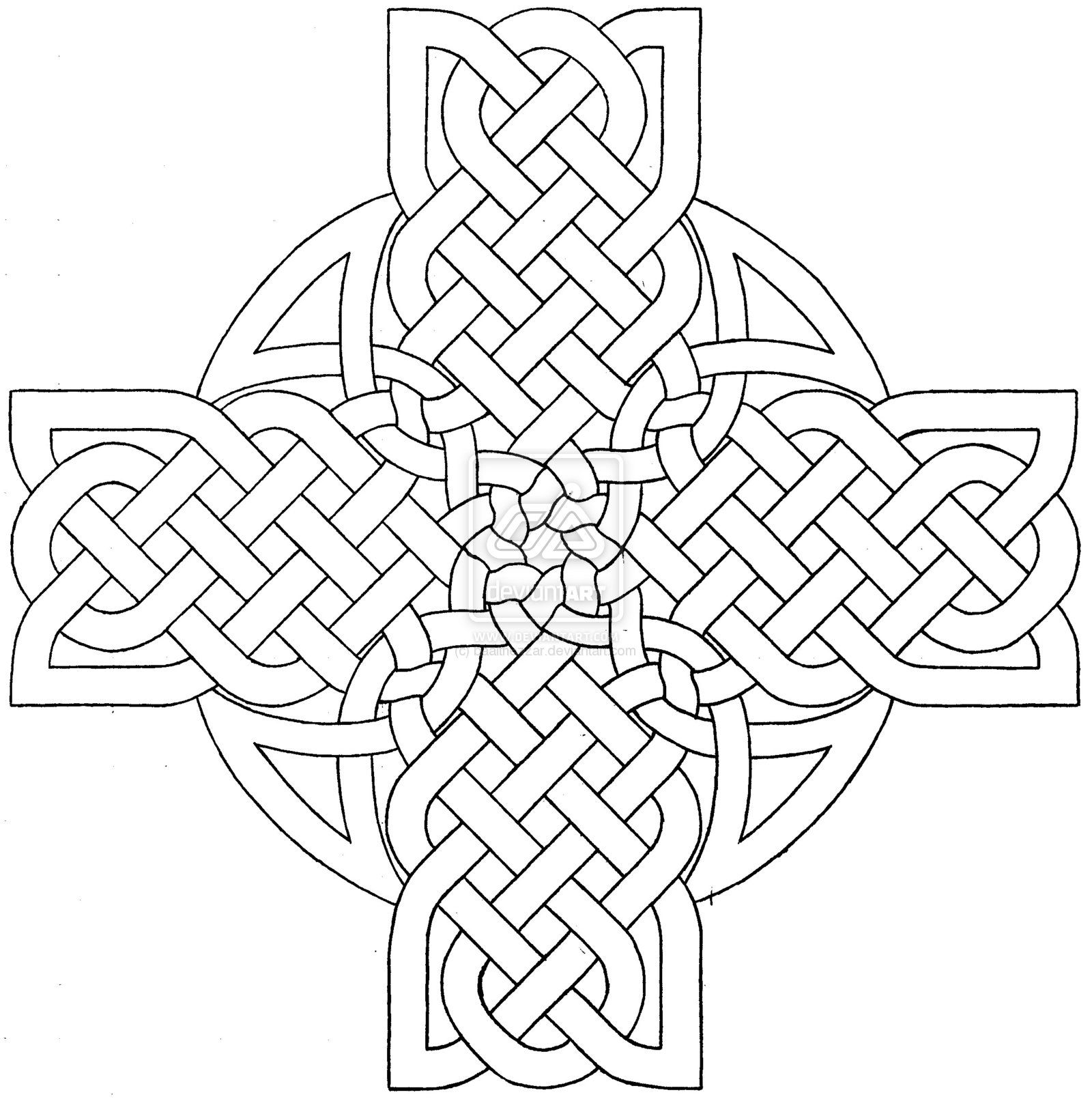 Celtic Mandala Coloring Pages
