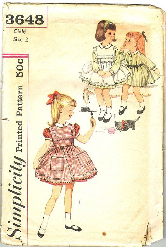 Simplicity 3648 Photocopy of Super Cute Vintage 60s Adorable ...