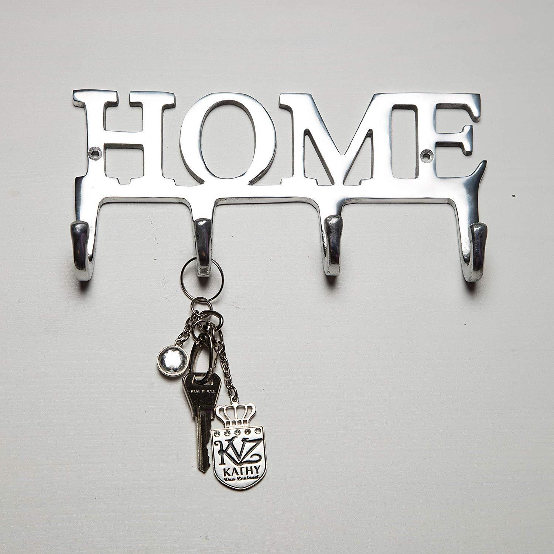 Home Aluminium Key Holder For Wall Metal Key Hook Wall Mounted Key Hanger Key Organizer Key Chain Hooks Decorative Entryway Organization Key Rack Alum Wall Key