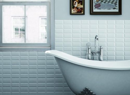 Carrelage mural de salle de bain en céramique : métro parisien METRO ...