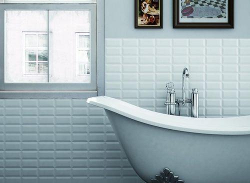 carrelage mural de salle de bain en c ramique m tro parisien metro keramia ceramicas salle. Black Bedroom Furniture Sets. Home Design Ideas