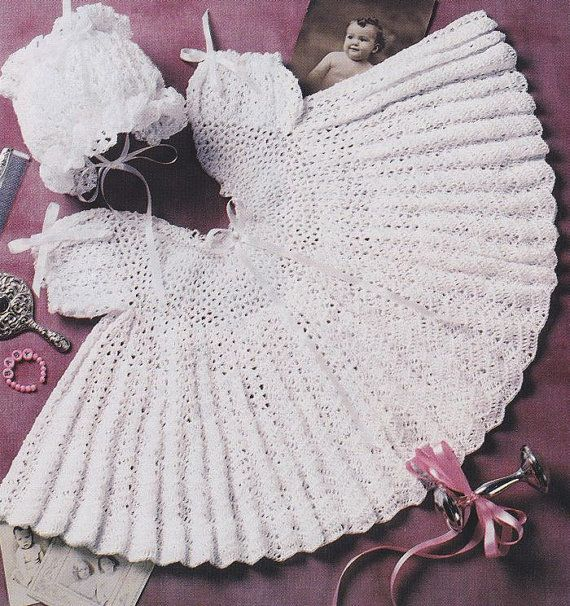 Baby Dress Crochet Pattern with Matching Bonnet   Crochet ...