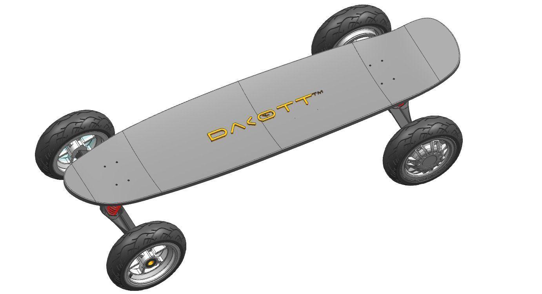 Dakott 500x2 Hub Motor High long Electric Skateboard, Black. Dakott 500x2 hub motor. 8.8Ah 36V max speed 25mph. Max range 26 miles.