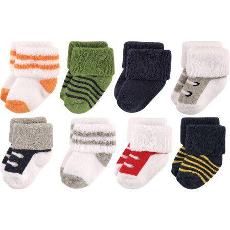 Luvable Friends Baby Boys/' 8-Pack Foldover Socks