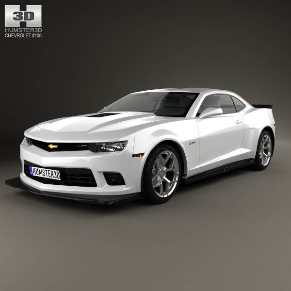 Chevrolet Camaro Z28 coupe 2014 3d model from humster3d.com. Price: $75