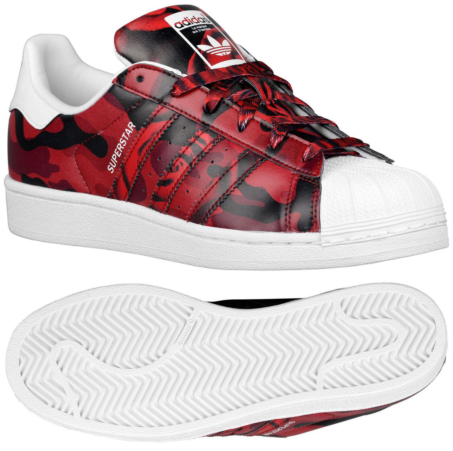 Adidas Originals Superstar White Black Red Rose Print AF5581 $185.00