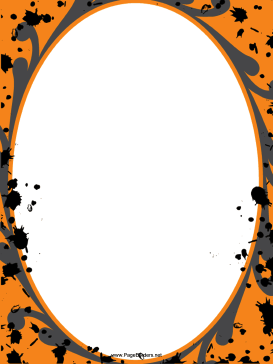 This Free Printable Abstract Halloween Border Is Decorated With Orange Gray And Black Paint Spa Halloween Borders Halloween Frames Halloween Printables Free
