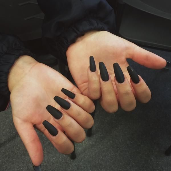 matte black   nail loves   Pinterest