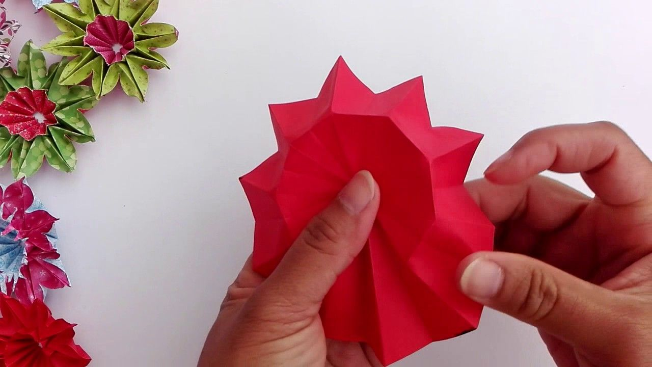 Origami Daisy Primula Paper Flower Arrangements Paper Flowers Origami