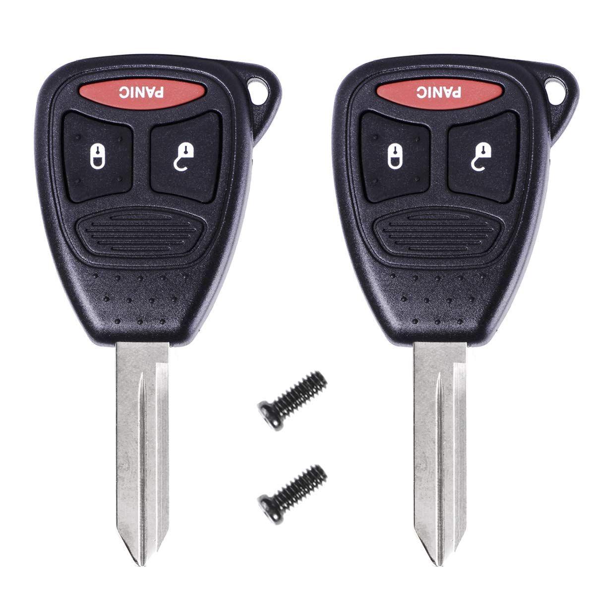 2 PCS Remote Key Case Button Pad fit for DODGE JEEP CHRYSLER Aspen Replacement