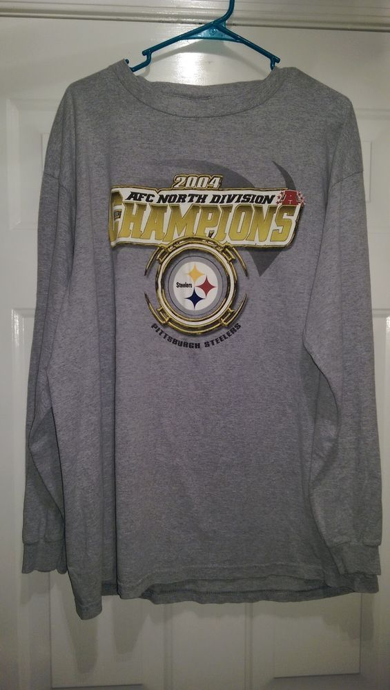 CSA Unisex Gray Pittsburgh Steelers Long Sleeve Shirt Size XL #CSA #PittsburghSteelers