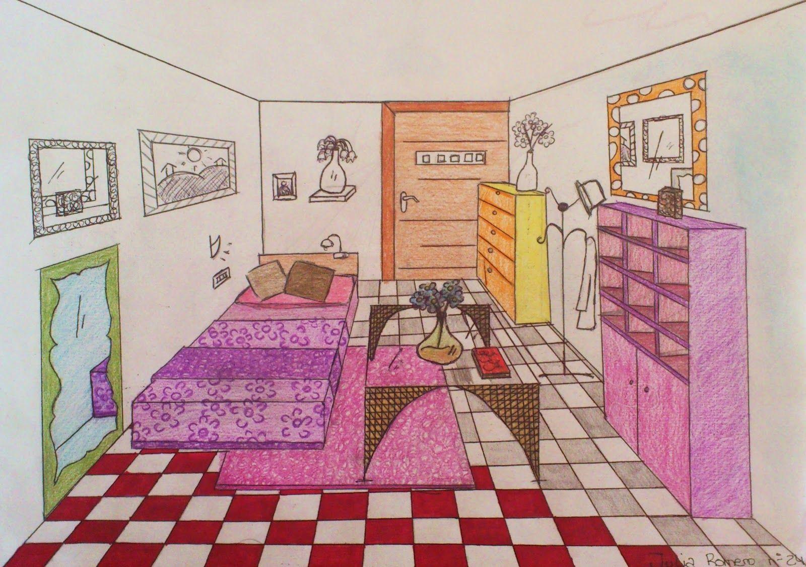 Dibujos con acuarela habitaciones buscar con google for Como disenar una habitacion en 3d