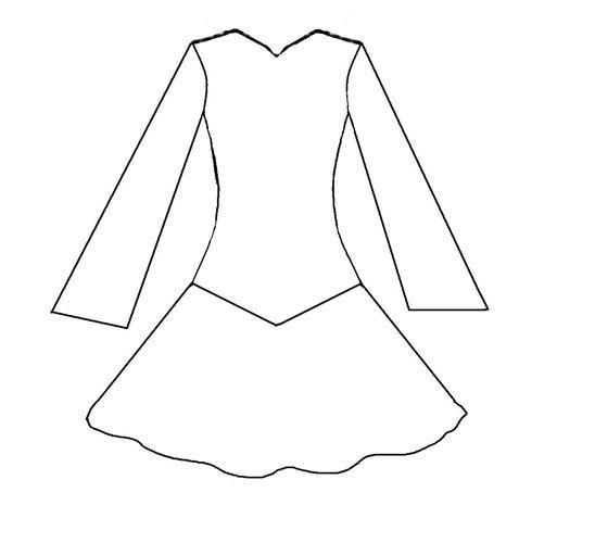 irish dance coloring page - Google Search | Irish Dance Dresses ...