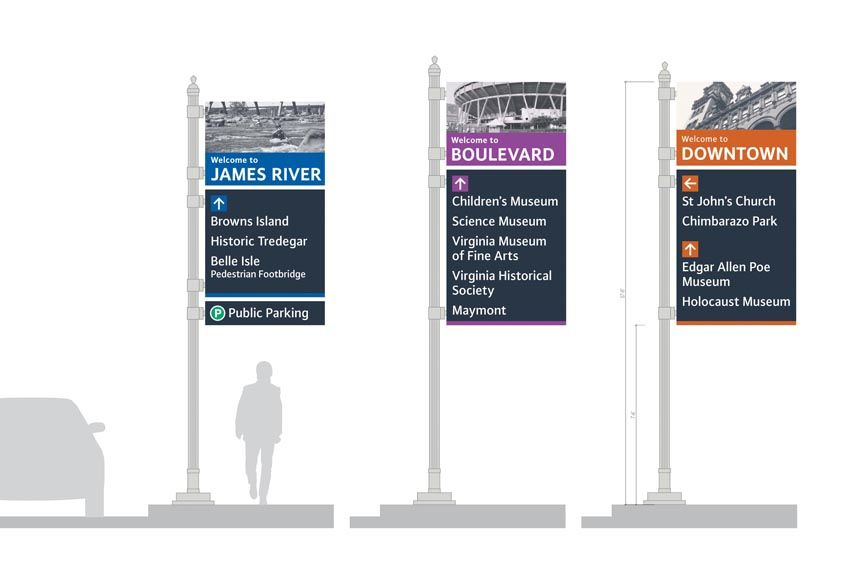The city\'s new way-finding signs are designed to help visitors ...