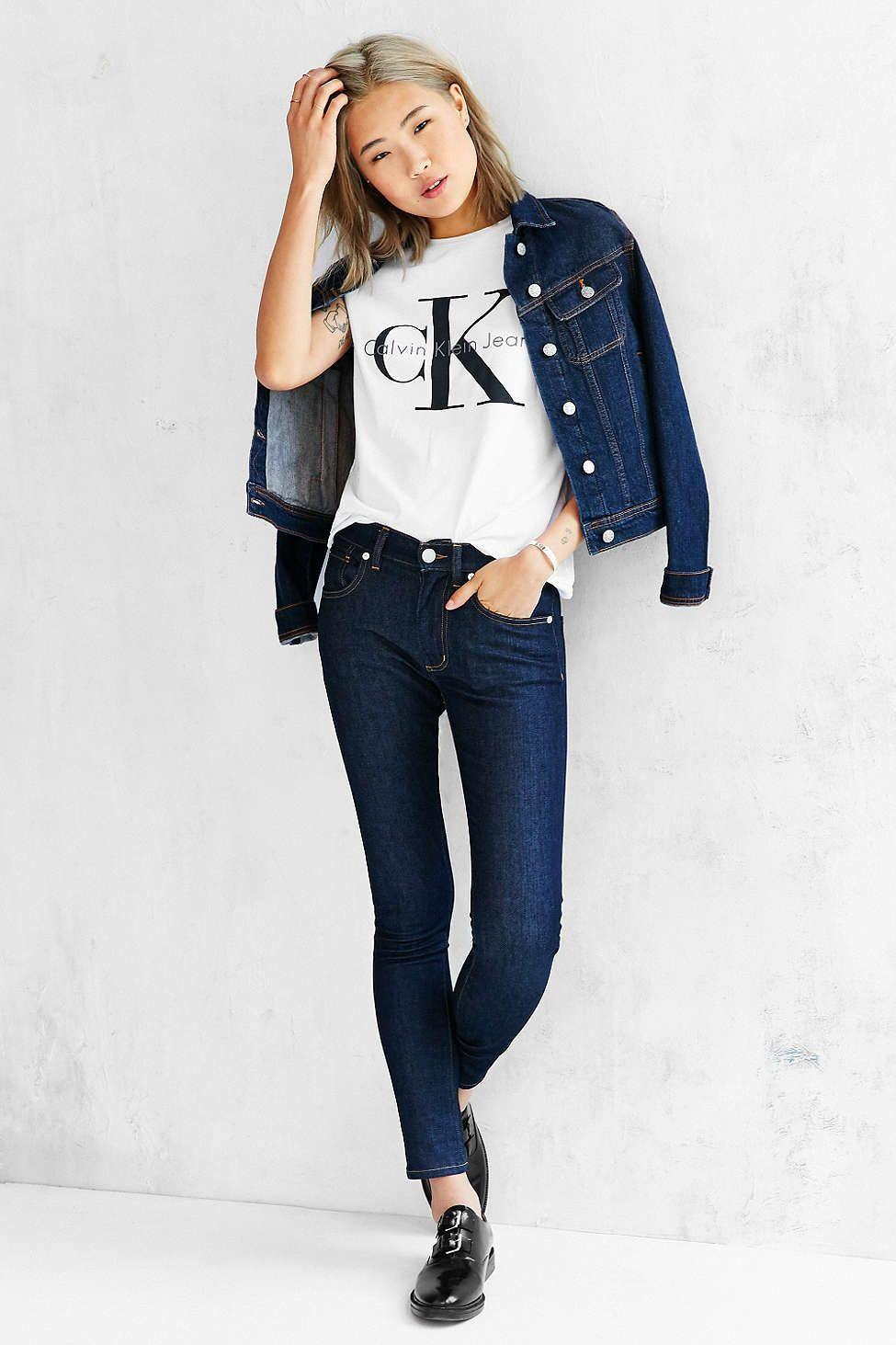 887b1cb9ca55 Calvin Klein Tee Shirt | Tees | Fashion, Fashion outfits, Fall outfits