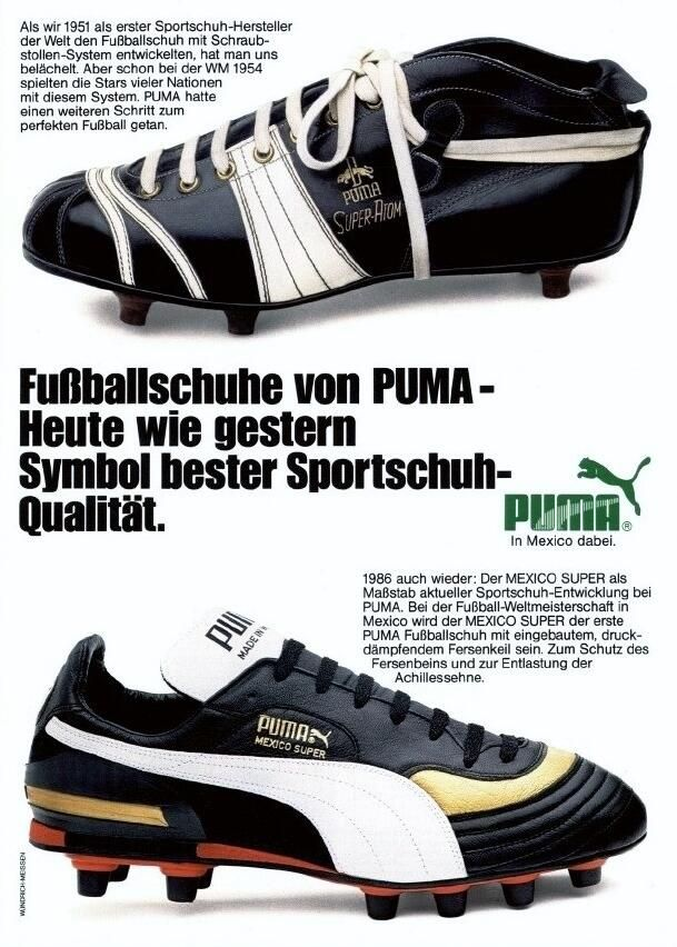 477f0f6d240b WC  86 PUMA advert  From the SUPER-ATOM to the MEXICO SUPER. (Source   Kicker)