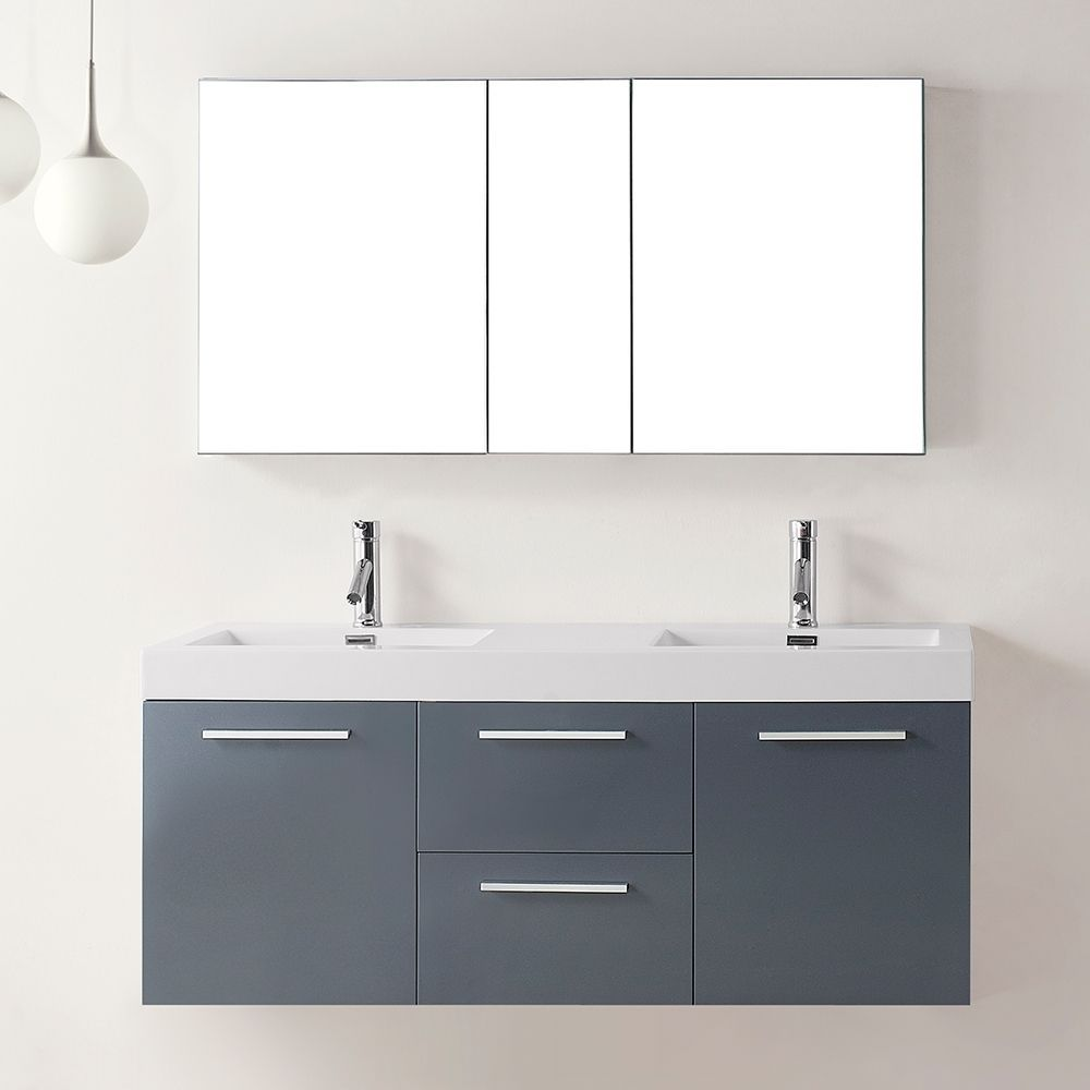 The Midoria 54 Inch Double Sink Vanity Set Is Magnificent Ultra Modern Perfect Example Of Quality Equipped With Two Soft