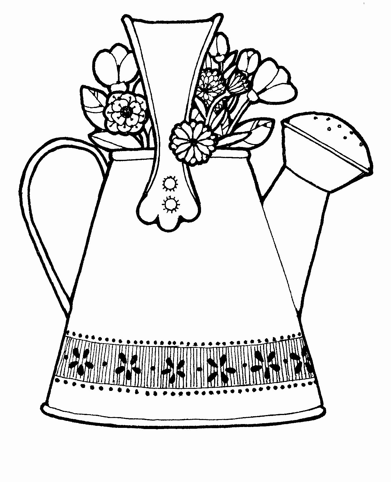 Watering Can Coloring Page Elegant Spring Watering Can Coloring Pages Clipart Best Coloring Pages Coloring Pages For Kids Power Rangers Coloring Pages