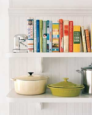 Shelve Items By Type Pots On One Level Books Another For A Systematic Look To Your Kitchen