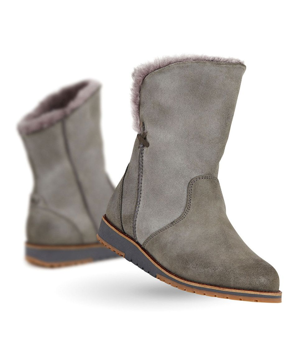 64d347623c Charcoal Beach Lo Suede Boot - Women by EMU Australia #zulily #zulilyfinds