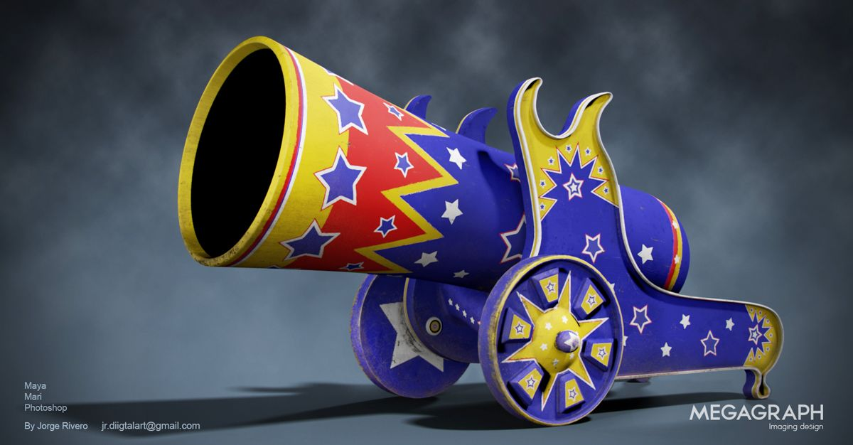 3D Cannon from Circus Cannon Image