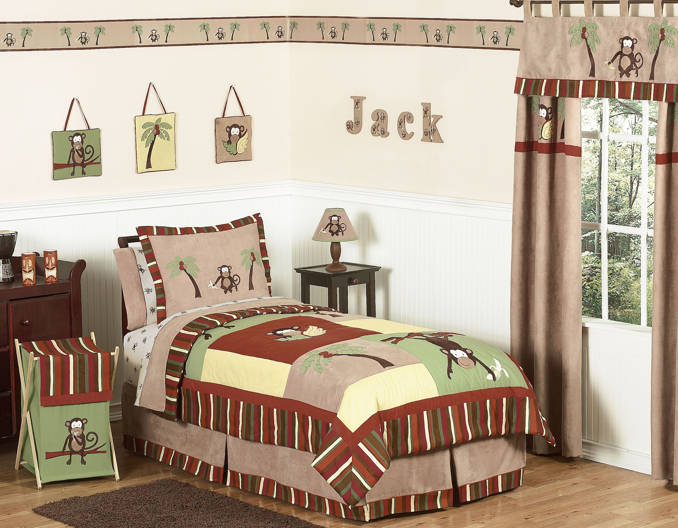 Boys Silly Monkey Bedding Twin Full X2f Queen Kids Comforter Sets