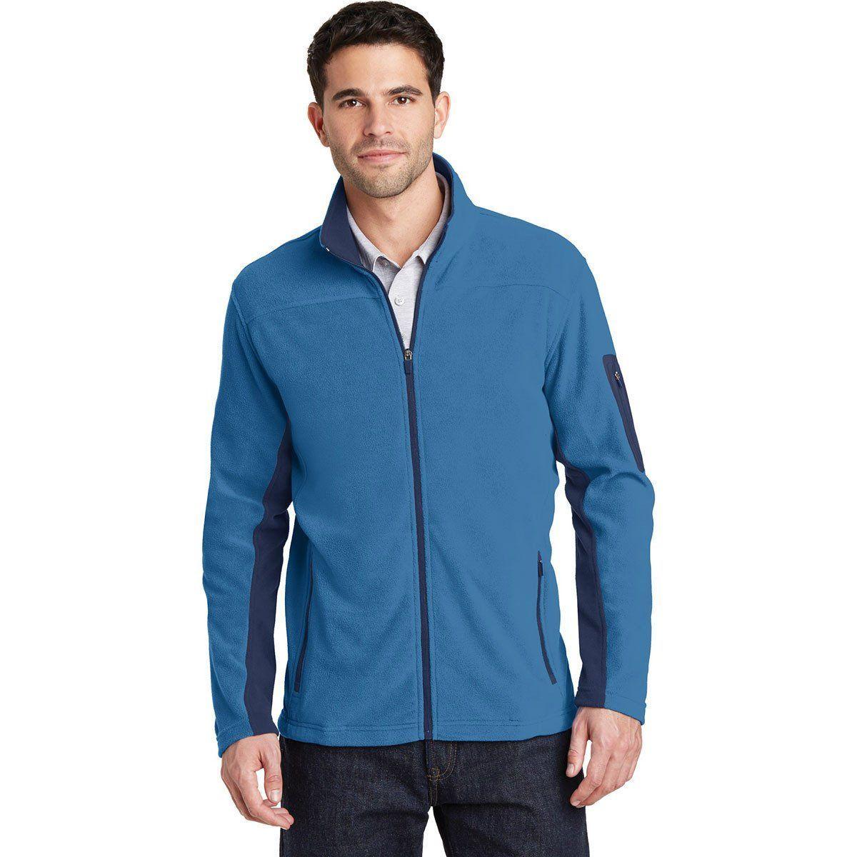Port Authority Men's Regal Blue/Dress Blue Navy Summit Fleece Full-Zip Jacket