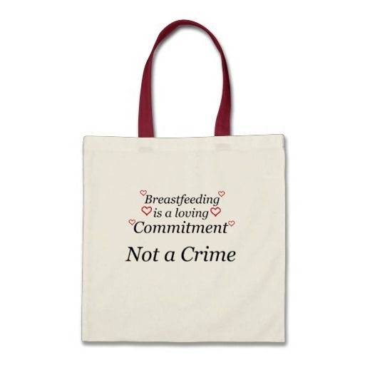 Sold! Breastfeeding Not a Crime Canvas Bag