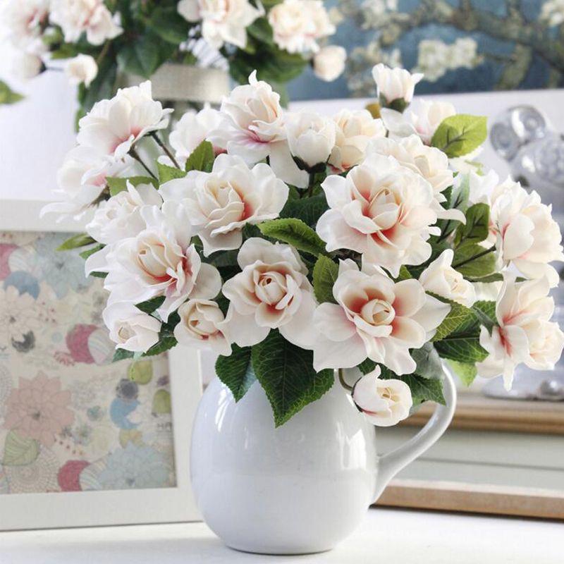 Cheap Silk Gardenias Buy Quality Flower Silk Directly From China Artificial Flowers Silk Suppliers Artificial Flowers Cheap Artificial Flowers Dried Flowers