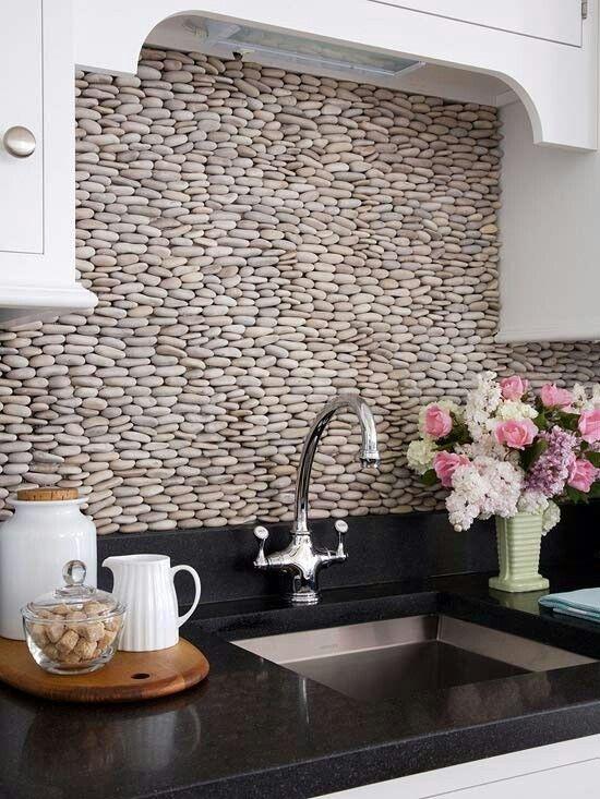 Kuchenruckwand Ideen Flusssteine Decorating Pinterest Future
