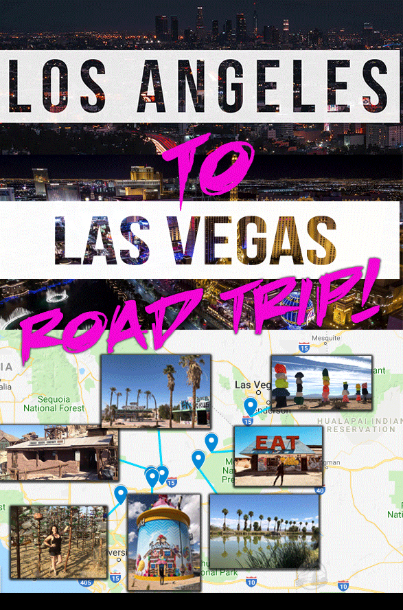 Road Trip Guide From Los Angeles To Las Vegas Best Stops Along The Road Abandoned Buildings Medical Spas Rest Stop Road Trip Las Vegas Map Road Trip Guides
