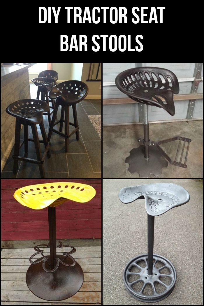 In This Tutorial We Ll Show You How To Turn A Tractor Seat Into A Bar Stool For Your Home Tractor Seat Bar Stools Diy Stool Diy Bar Stools