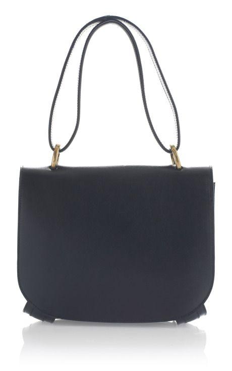 975b77d1e2 Ferragamo Black Rustic Kamelia Top Handle Handbag