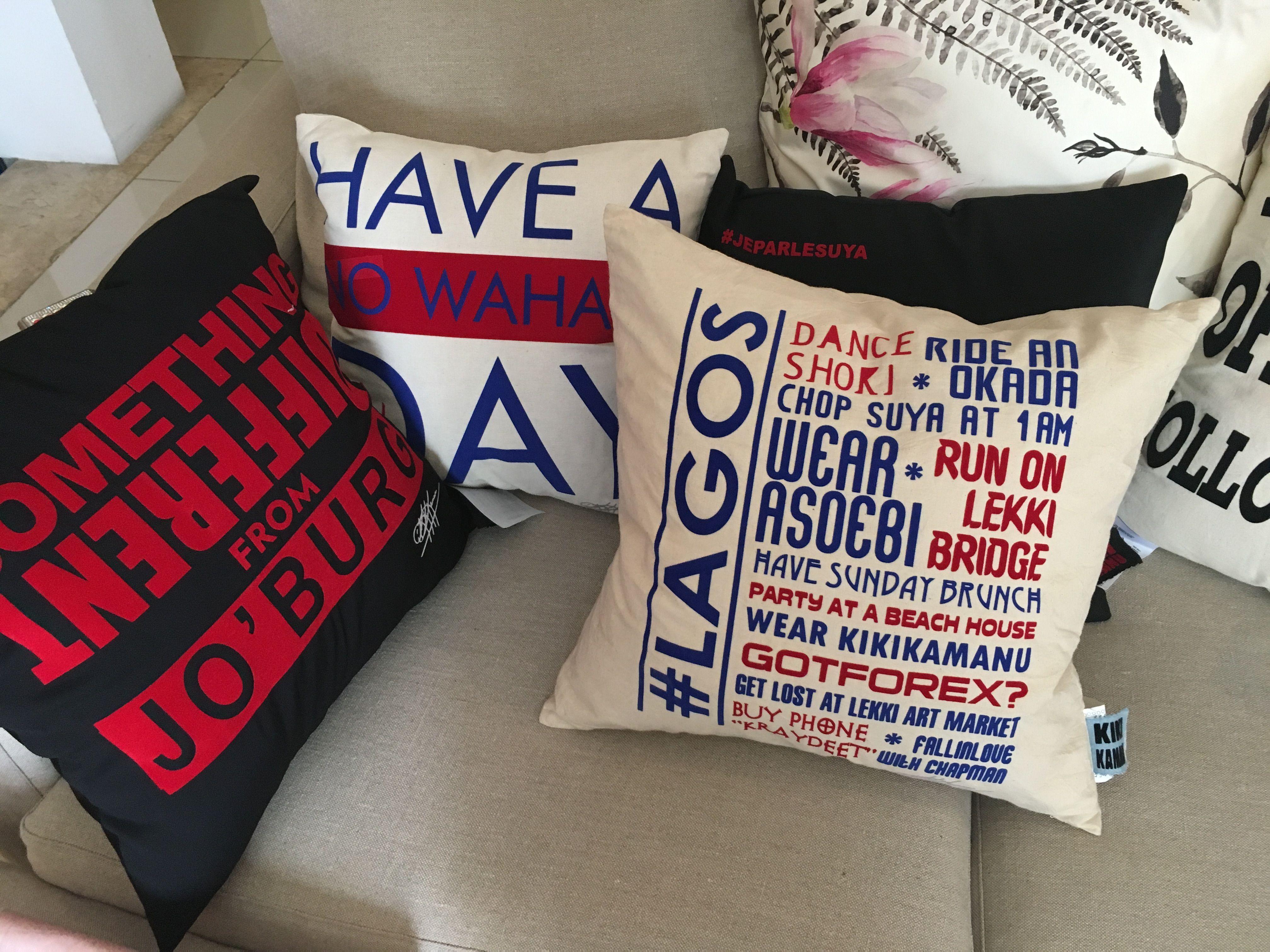 Throw Pillows From Kiki Kamanu - African Inspired Home Decor