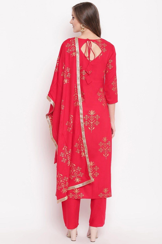 Fabric-Rayon Kurta with Pant