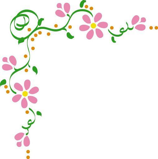 Bordes De Dibujos De Flores En Enredadera Para Decoraciones