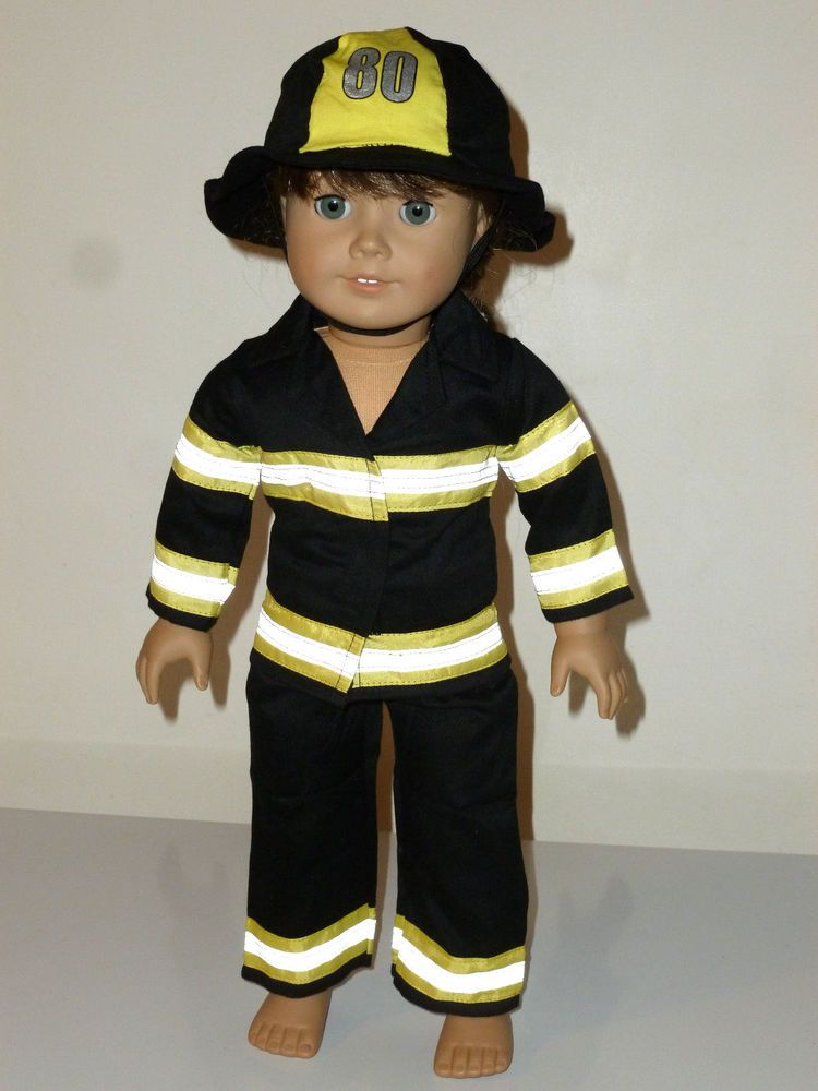 """Fire Fighter Fireman BOOTS for American Girl or Boy 18/"""" Doll Clothes Costume"""