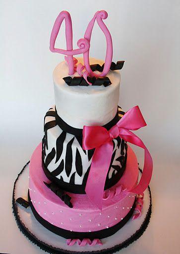 """Funky 40th"" cake....Love it!"